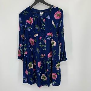 Old Navy Boho navy floral mini dress tiered Medium